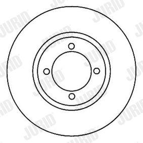 Bremsscheibe Bremsscheibendicke: 10mm, Lochanzahl: 4, Ø: 226mm, Ø: 226mm mit OEM-Nummer 6N0 615 601