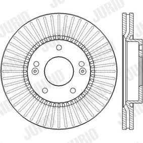 Bremsscheibe Bremsscheibendicke: 26mm, Lochanzahl: 5, Ø: 280mm mit OEM-Nummer 517123K000