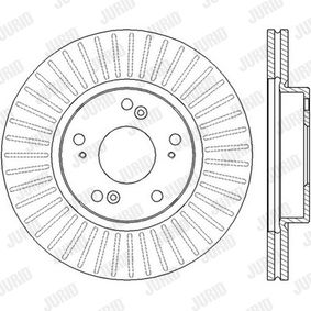 Brake Disc Brake Disc Thickness: 23mm, Num. of holes: 5, Ø: 282mm with OEM Number 45251-TA0-A01