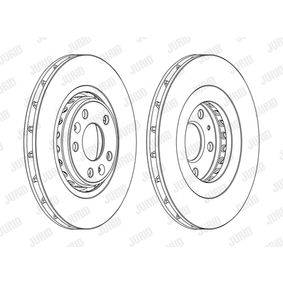 Brake Disc Brake Disc Thickness: 28mm, Num. of holes: 5, Ø: 320mm with OEM Number 402060003R