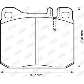 Bremsbelagsatz, Scheibenbremse Höhe 1: 74mm, Dicke/Stärke: 17,5mm mit OEM-Nummer 001.420.05.20