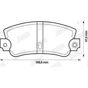 Bremsbelagsatz, Scheibenbremse Höhe 1: 48mm, Dicke/Stärke: 12mm mit OEM-Nummer 5888939