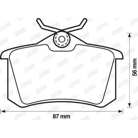 Bremsbelagsatz, Scheibenbremse Höhe 1: 53mm, Dicke/Stärke: 15mm mit OEM-Nummer 161 698 451 D