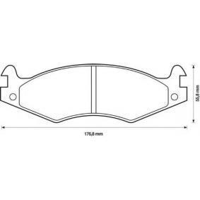 Bremsbelagsatz, Scheibenbremse Höhe: 55,8mm, Dicke/Stärke: 15,7mm mit OEM-Nummer 21820
