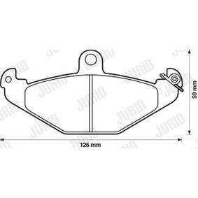 Bremsbelagsatz, Scheibenbremse Höhe 1: 59mm, Dicke/Stärke: 14,8mm mit OEM-Nummer 6002446