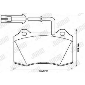 Bremsbelagsatz, Scheibenbremse Höhe 1: 69mm, Dicke/Stärke: 16,8mm mit OEM-Nummer 5892740