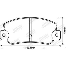 Bremsbelagsatz, Scheibenbremse Dicke/Stärke: 12mm mit OEM-Nummer 5888939