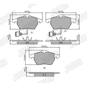 Kit pastiglie freno, Freno a disco Altezza 1: 75mm, Spessore: 19,5mm con OEM Numero 8E0698151F