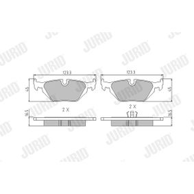 Bremsbelagsatz, Scheibenbremse Höhe 1: 43,6mm, Dicke/Stärke: 16,7mm mit OEM-Nummer 3421 1 162 446
