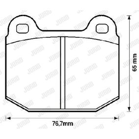 Brake Pad Set, disc brake Height 1: 66mm, Thickness: 16,5mm with OEM Number 1605186