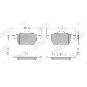 Kit pastiglie freno, Freno a disco Altezza 1: 74mm, Spessore: 19,7mm con OEM Numero 8E0 698 151 F