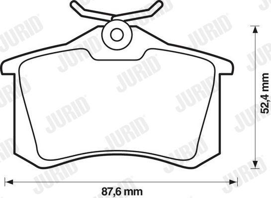 Bremsbelagsatz JURID 20961 Bewertung