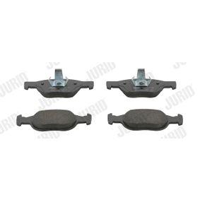 Brake Pad Set, disc brake 571949J PUNTO (188) 1.2 16V 80 MY 2004