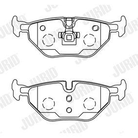 Bremsbelagsatz, Scheibenbremse Höhe 1: 44mm, Dicke/Stärke: 17,3mm mit OEM-Nummer 3M512K021-AA