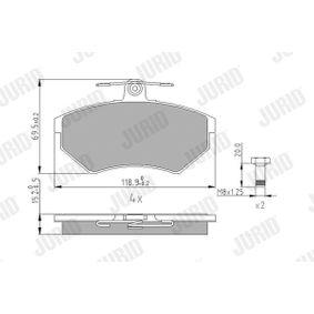 Bremsbelagsatz, Scheibenbremse Art. Nr. 571969J 120,00€