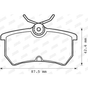 Brake Pad Set, disc brake Height 1: 43mm, Thickness: 14,7mm with OEM Number 5 382 847