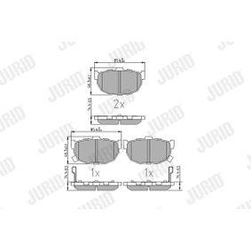 2003 Hyundai Coupe gk 2.0 Brake Pad Set, disc brake 572127J