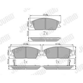 Bremsbelagsatz, Scheibenbremse Höhe 1: 49mm, Dicke/Stärke 1: 15,5mm, Dicke/Stärke: 15,9mm mit OEM-Nummer 58101-25A20