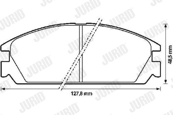 JURID  572287J Bremsbelagsatz, Scheibenbremse Dicke/Stärke: 14mm