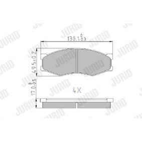 Bremsbelagsatz, Scheibenbremse Höhe 1: 50mm, Dicke/Stärke: 16mm mit OEM-Nummer 4106062C90
