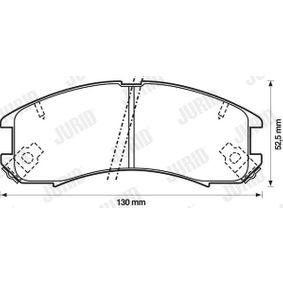 Bremsbelagsatz, Scheibenbremse Höhe 1: 49mm, Dicke/Stärke: 15,4mm mit OEM-Nummer G5Y6-2643Z-B