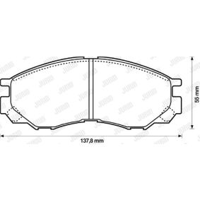 Bremsbelagsatz, Scheibenbremse Art. Nr. 572419J 120,00€