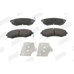 Bremsbelagsatz, Scheibenbremse Höhe 1: 53mm, Dicke/Stärke: 17,6mm mit OEM-Nummer 58101-29A80
