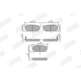 2013 KIA Sorento jc 2.5 CRDi Brake Pad Set, disc brake 572549J