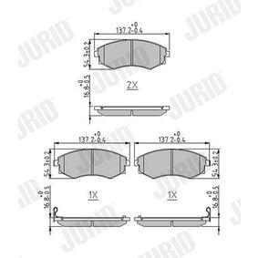 Bremsbelagsatz, Scheibenbremse Höhe 1: 54mm, Dicke/Stärke: 17mm mit OEM-Nummer 58101-38A00