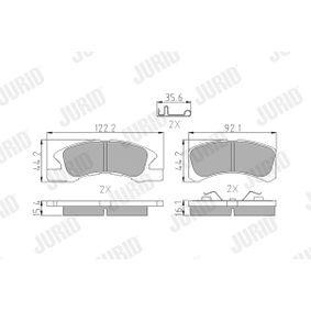 Bremsbelagsatz, Scheibenbremse 572615J Cuore 6 (L251, L250_, L260_) 0.7 Bj 2012