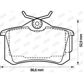 Bremsbelagsatz, Scheibenbremse Höhe 1: 53mm, Dicke/Stärke: 16,1mm mit OEM-Nummer 440606418R