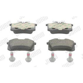 Jogo de pastilhas para travão de disco Altura 1: 53mm, Espessura: 16,1mm com códigos OEM E172204