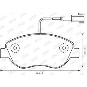 Bremsbelagsatz, Scheibenbremse Höhe 1: 53,4mm, Dicke/Stärke: 18mm mit OEM-Nummer 71770118