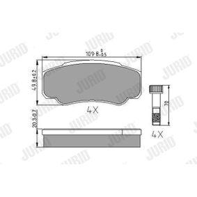 Bremsbelagsatz, Scheibenbremse Dicke/Stärke: 20,3mm mit OEM-Nummer 4254.68