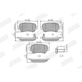 Bremsbelagsatz, Scheibenbremse Höhe 1: 42,7mm, Dicke/Stärke: 15,2mm mit OEM-Nummer 93 176 118