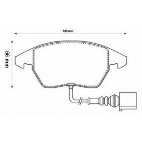 Bremsbelagsatz, Scheibenbremse Höhe 2: 66mm, Höhe: 66mm, Dicke/Stärke: 20mm mit OEM-Nummer 3C0 698 151A