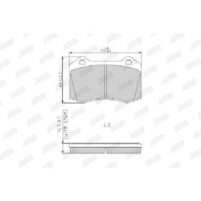 Bremsbelagsatz, Scheibenbremse Höhe 1: 69,2mm, Dicke/Stärke: 14,7mm mit OEM-Nummer MXD2750AA