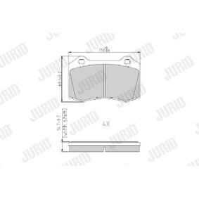 Bremsbelagsatz, Scheibenbremse Höhe 1: 69mm, Dicke/Stärke: 14,7mm mit OEM-Nummer C2C 24016