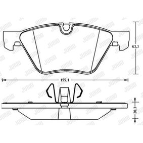 Bremsbelagsatz, Scheibenbremse Höhe 1: 63,7mm, Höhe 2: 63,5mm, Dicke/Stärke: 20,3mm mit OEM-Nummer 34 11 6 777 772