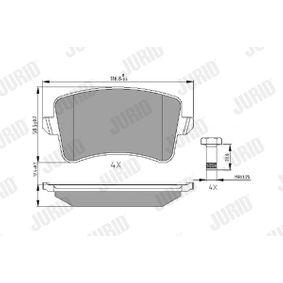 Bremsbelagsatz, Scheibenbremse Höhe 1: 58,8mm, Dicke/Stärke: 17,5mm mit OEM-Nummer 8K0 698 451 F