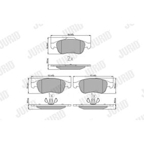 Bremsbelagsatz, Scheibenbremse Höhe 1: 60mm, Höhe 2: 65mm, Dicke/Stärke: 18,1mm mit OEM-Nummer 41060-7115R