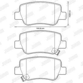 Brake Pad Set, disc brake Height 1: 66mm, Thickness: 18,9mm with OEM Number 16 05 265