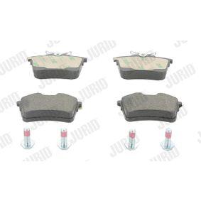 Bremsbelagsatz, Scheibenbremse Höhe 1: 53mm, Dicke/Stärke: 16,6mm mit OEM-Nummer 1611837980