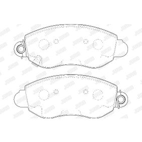 Bremsbelagsatz, Scheibenbremse Höhe 1: 53mm, Dicke/Stärke: 16,8mm mit OEM-Nummer K68029887AA