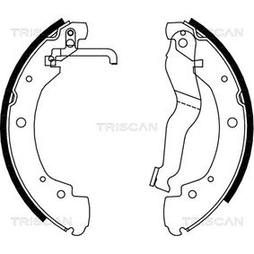 Bremsbackensatz Breite: 55mm mit OEM-Nummer 701609531D