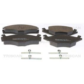TRISCAN Bremsbelagsatz, Scheibenbremse 8110 10116 für AUDI 80 (8C, B4) 2.8 quattro ab Baujahr 09.1991, 174 PS