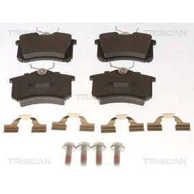 Bremsbelagsatz, Scheibenbremse Breite: 87mm, Höhe: 52,9mm, Dicke/Stärke: 16mm mit OEM-Nummer 5Q0698451M