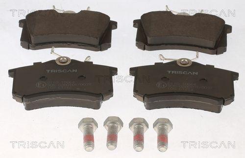 TRISCAN  8110 10864 Bremsbelagsatz, Scheibenbremse Breite: 87mm, Höhe: 52,9mm, Dicke/Stärke: 15mm