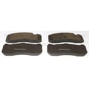 Bremsbelagsatz, Scheibenbremse Breite: 164,8mm, Höhe: 73,5mm, Dicke/Stärke: 16,5mm mit OEM-Nummer 34 11 6 786 044