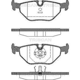 Bremsbelagsatz, Scheibenbremse Breite: 123,1mm, Höhe: 44,9mm, Dicke/Stärke: 17mm mit OEM-Nummer 34 21 1 162 446